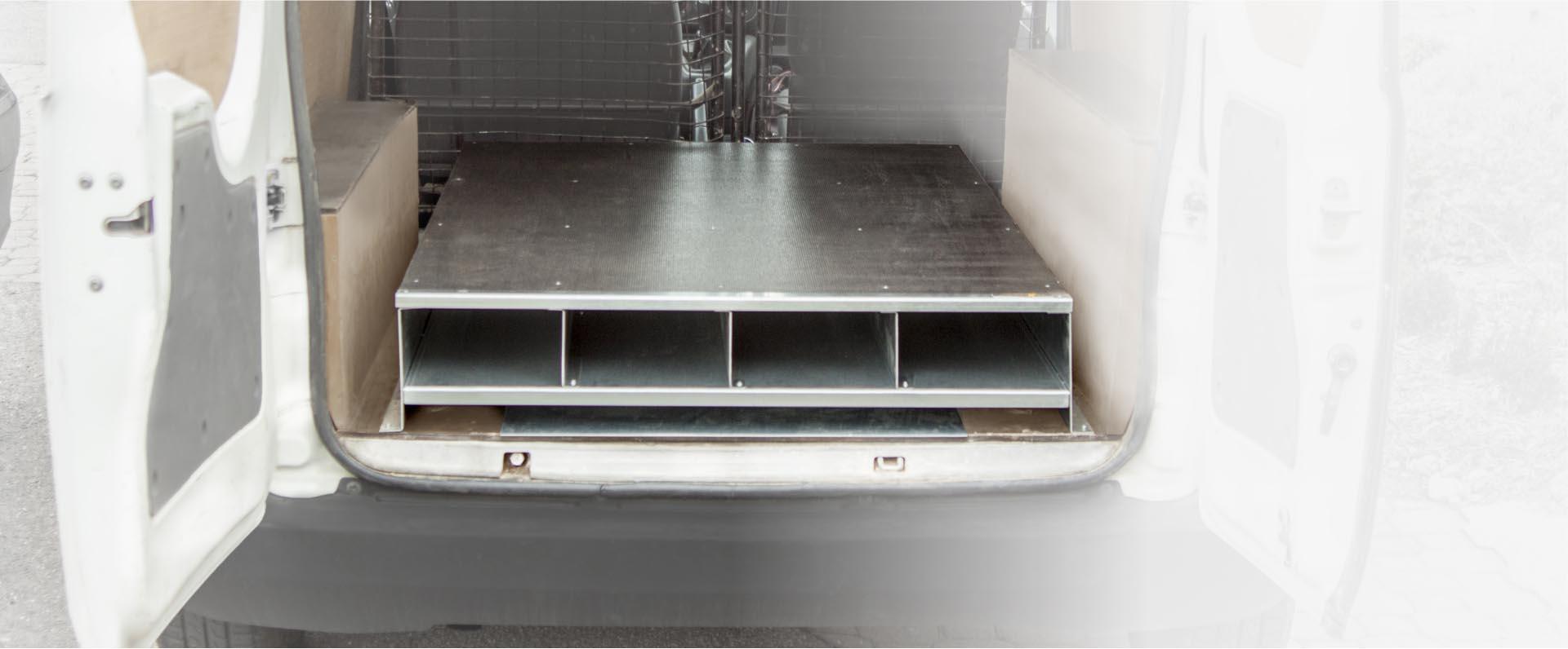 Rangement plancher pour zinguerie utilitaire